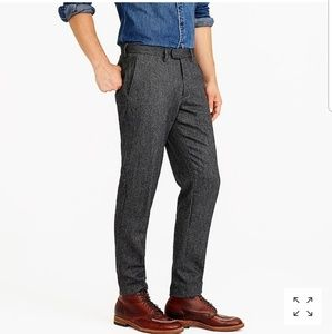 NWT J. Crew Wool Herringbone Bowery Slim Pant